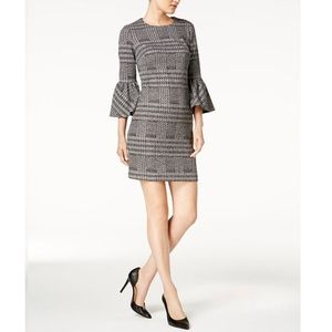 Calvin Klein Plaid Ponte-Knit Houndstooth Dress